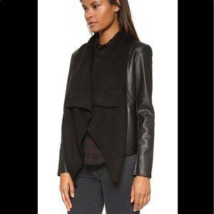 BB Dakota Sarafina faux leather jacket sweater